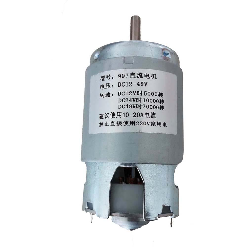 997 motor poderoso da c.c., 12-48v motor de alta velocidade, motor silencioso do rolamento de esferas 5000 rpm 20000rpm