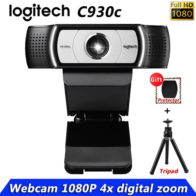 كاميرا ويب أصلية من Logitech طراز C930c C930e 1080P عالية الجودة مناسبة لتدريس الشبكات ومؤتمر الفيديو الشبكي مع شحن مجاني