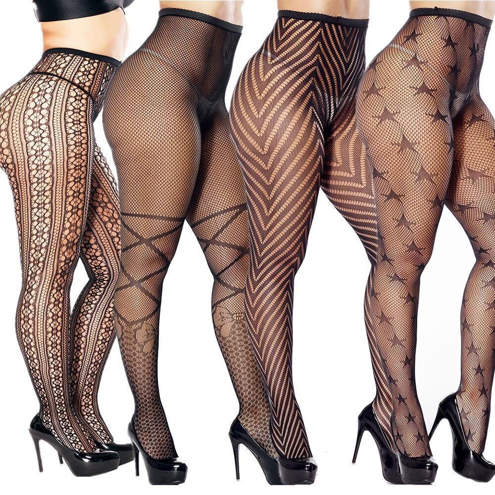 zigzag sheer mesh workout tights Women's Sexy Pantyhose Tights Fishnet Mesh Underwear Lace Sheer Plus Size Women's Socks Tights Nightwear Sleepwear