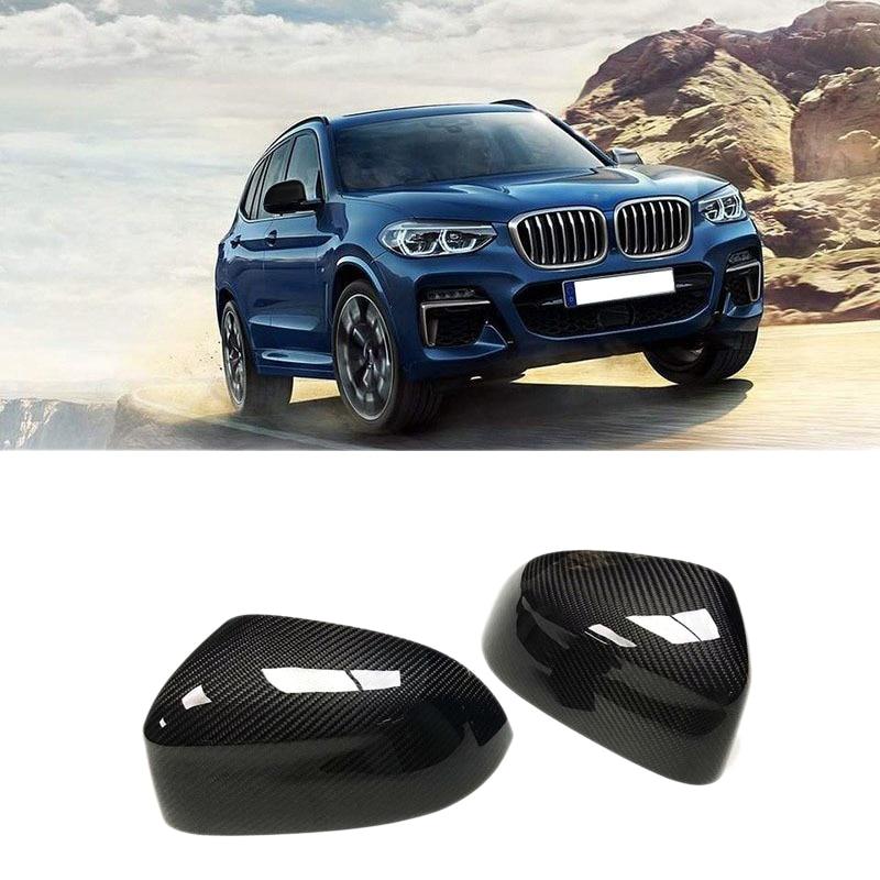 Reemplazo de cubierta de espejo retrovisor de fibra de carbono para BMW X3 G01 X4 G02 X5 G05 2018-19