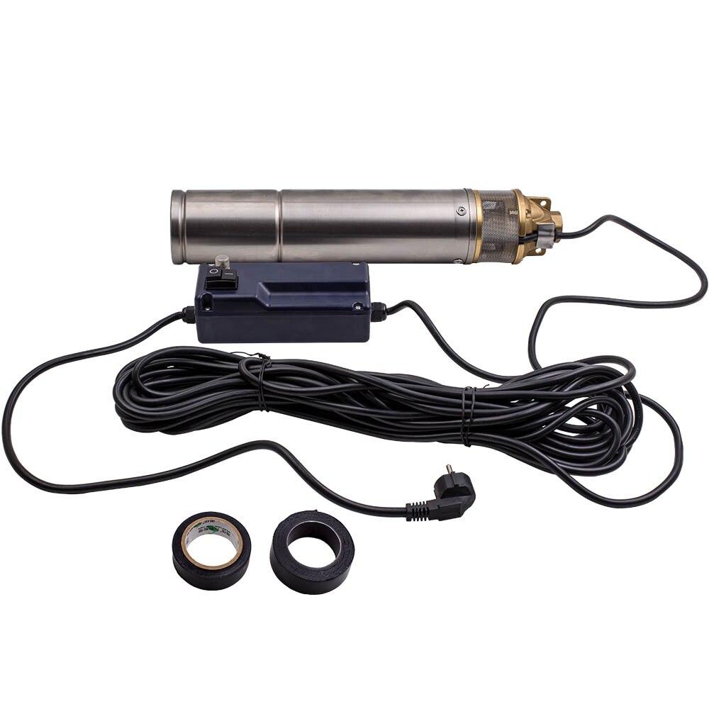 Durable 4 pulgadas 750W 2600L/H bomba de agua sumergible pozo profundo 9 bar max. 20m Cable
