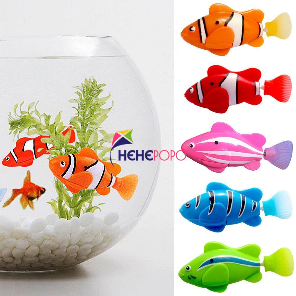 5 Pcs / Set Robot Electronic Fish Swim Toy Battery Included Robotic Pet for Kids Bath Toy Fishing Decorating Act Like Real Fish