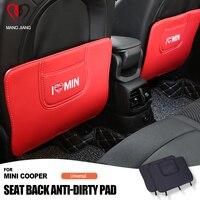 Car-styling Anti Dirty Pad Carbon Fiber Stickers For Mini Cooper R60 F54 F55 F56 F60 R55 R56 R60 Auto Seat Anti Dirty Pad 2PCS
