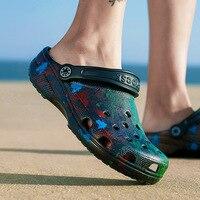 Men Sandals Crocks Autumn Hole Shoes Crok Rubber Clogs Women EVA Unisex Garden Shoes Black Crocse Beach Flat Slipperskm7