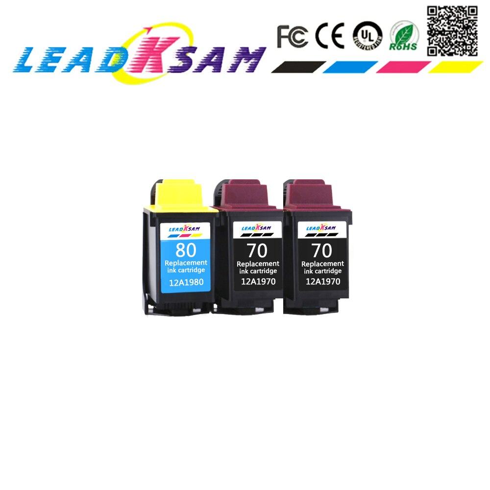 Cartucho de tinta compatível para Lexmark 70 12A1970 12A1980 CJ3200 5000 5700 7000 Z11 Z31 Z42 Z43 Z45 Z51 Z52 Z53 X73 X83 X85