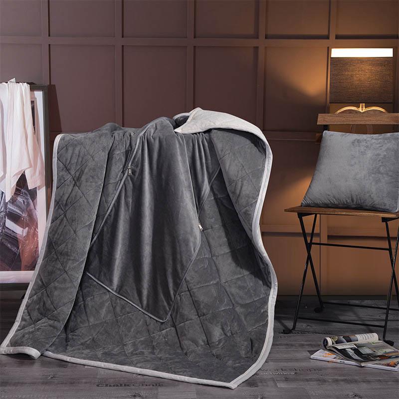 2 в 1 Бархатная подушка одеяло для автомобильного дивана для путешествий поясничная подушка кондиционер одеяло s складное лоскутное одеяло