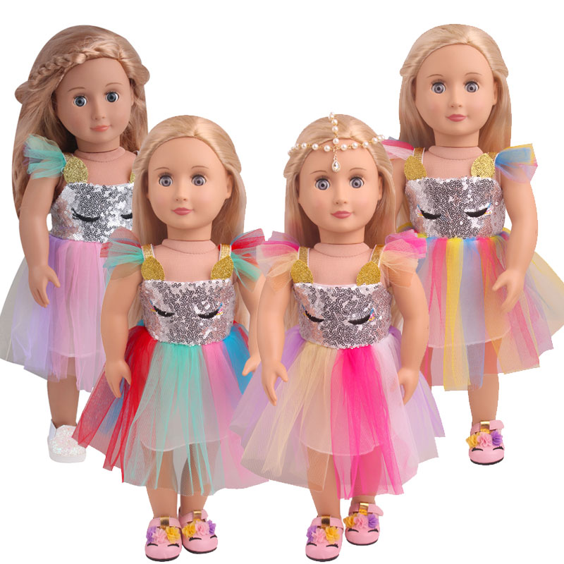 New dress Fit for American Girl Doll Clothes 18-inch Doll , Christmas Girl Gift(only sell clothes)