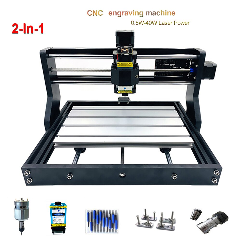 3018Pro Laser Engraving Machine 3axis CNC Laser Engraver 15W 30W 40W Power Cutting Wood CNC Milling Machines PCB DIY Wood Router