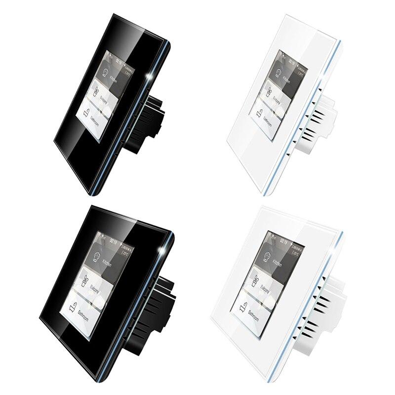 مفتاح حائط ذكي 4 في 1 ، wi-fi ، LCD ، مفتاح إضاءة المنزل الذكي ، مشهد ستارة ، لتطبيق Amazon Google Alexa Mobile ، المنزل الذكي