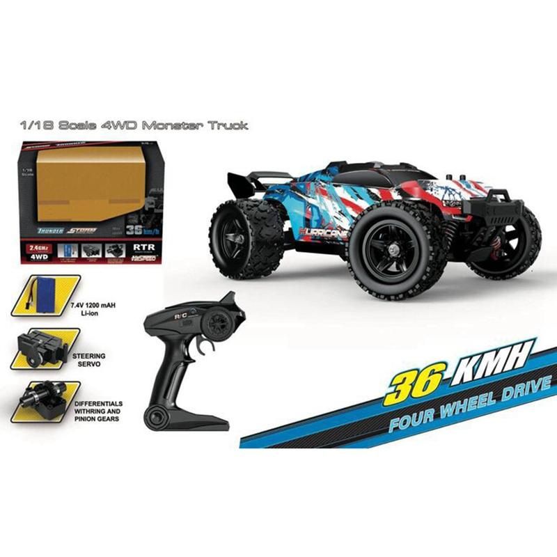 HS 18321 1/18 2.4G 4WD 36km/h RC Car Model Proportional Control Big Foot Monster Truck RTR Vehicle enlarge