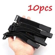 10 pz riutilizzabile canna da pesca cravatta bretelle cinghia di fissaggio gancio anello cavo fascette cintura attrezzatura da pesca strumento strumenti di pesca