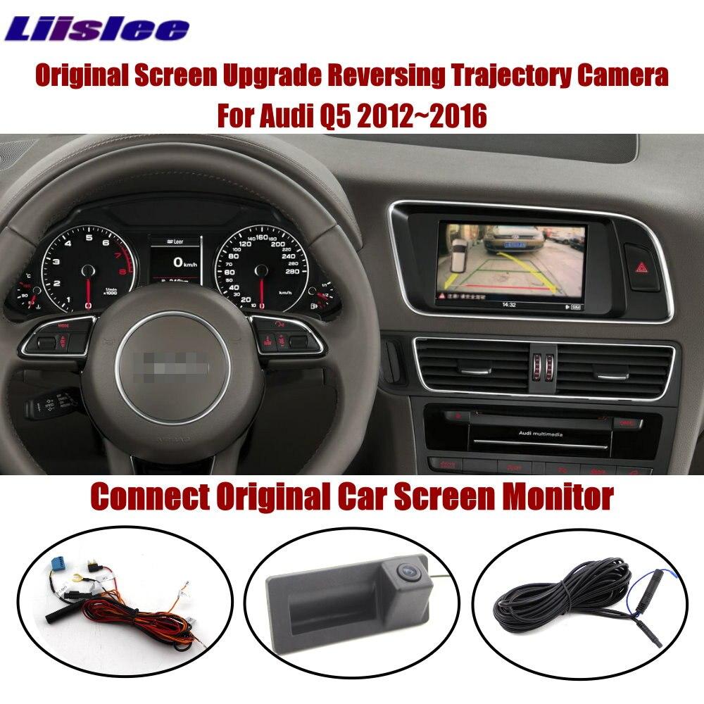 Car Rearview Camera For Audi Q5 2012-2016 Auto Parking Reverse Camera Parking Lines Original Screen Dynamic Trajectory