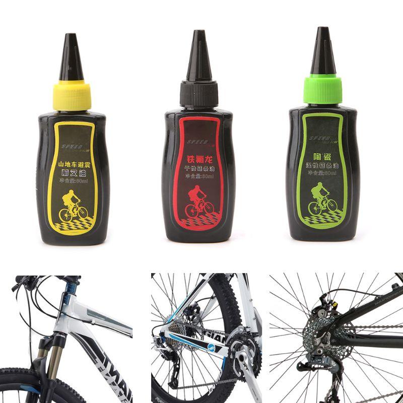 60ml lubrificante de bicicleta seco teflon lubrificante corrente óleo mountain bike garfo óleo 875d