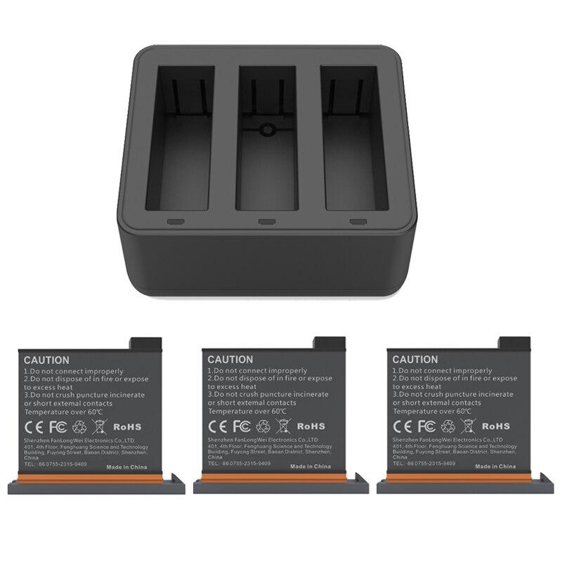 Новый комплект для экшн-зарядки DJI Osmo, 3 аккумулятора + зарядное устройство, хаб для спортивной экшн-камеры DJI Osmo, аксессуары