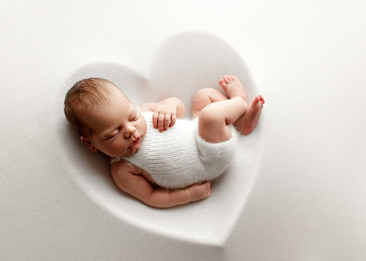 New newborn photography props heart shaped tub love shape colorful solid wood container full moon baby photo enlarge