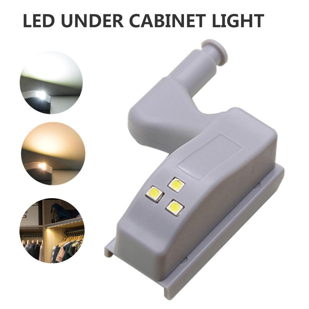 5 unids/set LED bisagra cabinetidraulica luz alimentada por batería armario de cocina armario de la sala de estar armario luz interior Universal