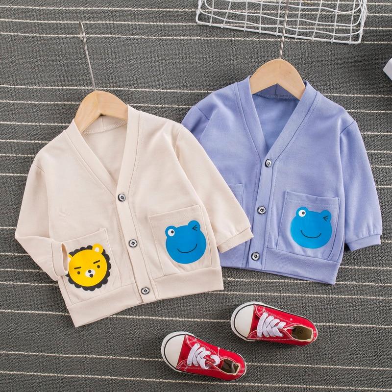 Cute Autumn Baby Clothes Coat Girls Boys Outerwear Cartoon Print Casual Sweatshirt Kids Jackets Outfits Tops