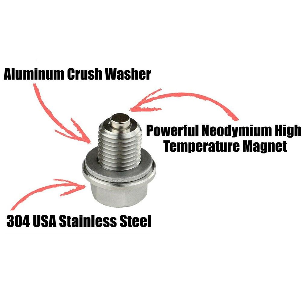 AliExpress - M14*1.5Auto Screw Cap Magnetic Oil Drain Plug Neo Magnets Oil Drain Sump Nut Drain Bolt Silver For Auto Car Accessories tools