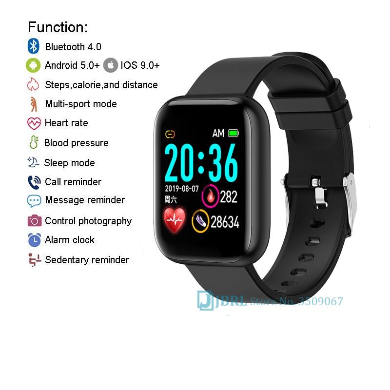 2021 Ladies Sport Bracelet Smart Watch Women Smartwatch Men Smartband Android IOS Waterproof Fitness Tracker Smart Clock Mens