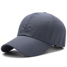 New Summer Snapback Quick Dry Mesh Cap Sun Hat Bone Breathable Hats Men Women  Outdoor Climbing Traveling Capsun