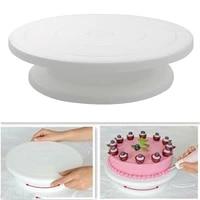 10 inch cake turntable rotating anti skid round cake stand cake decorating tools cake rotary table kitchen diy pan baking tools