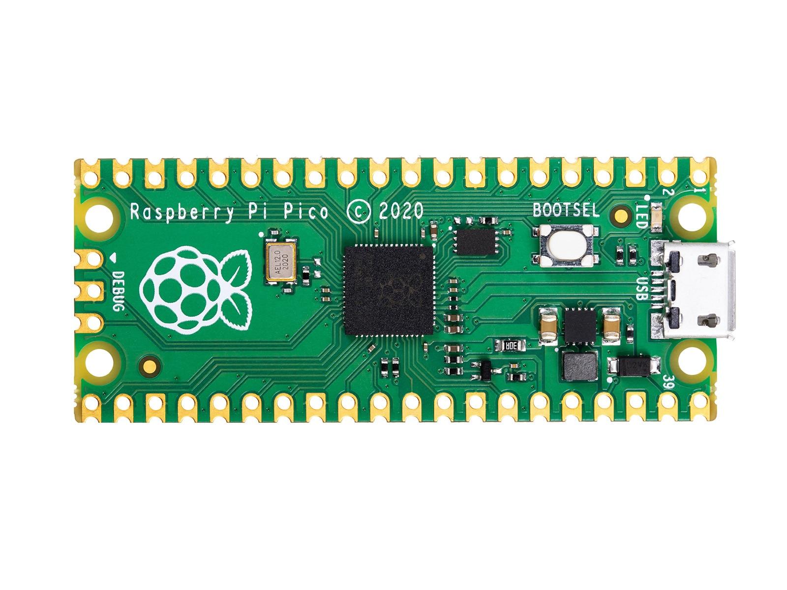 Placa de microcontrolador Raspberry Pi Pico a, bajo coste, alto rendimiento, con...