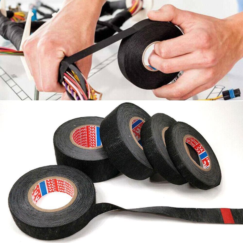 Tesa Coroplast cinta de tela adhesiva waterdichte cinta para cableado de cables telar cinta eléctrica Anti sonajero fieltro autoadhesivo