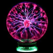Gorący sprzedawanie magiczne szkło kula plazmowa okrągłe oświetlenie Party USB glitter lampa dla dzieci prezent nowy rok magiczna plazma lampka nocna