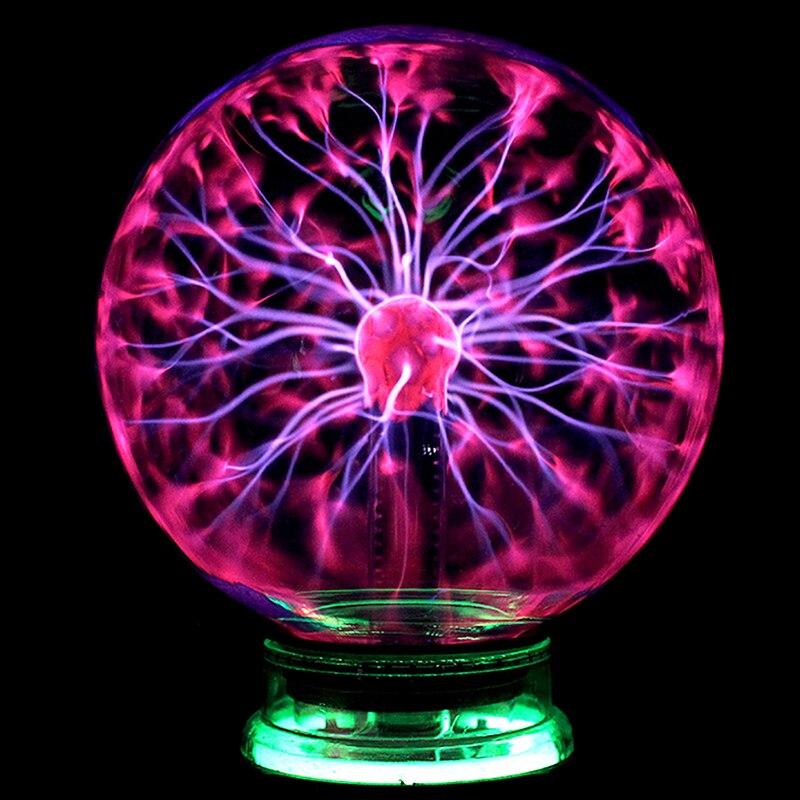 Gran venta de bola de Plasma de cristal mágico, lámpara de brillo USB de fiesta para niños, regalo de Año Nuevo, luz de noche mágica de Plasma