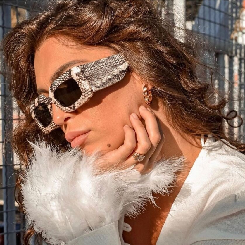 aliexpress.com - Square Sunglasses Men Women Snakeskin Sun Glasses Snake Pattern Travel Vintage Retro Oculos Shades Female UV400 Gafas De Sol