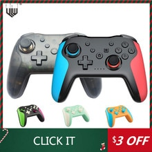 2PCS Bluetooth Gamepad For Nintendo Switch Console 6Axis Vibration Wireless Joystick To NS Switch Co