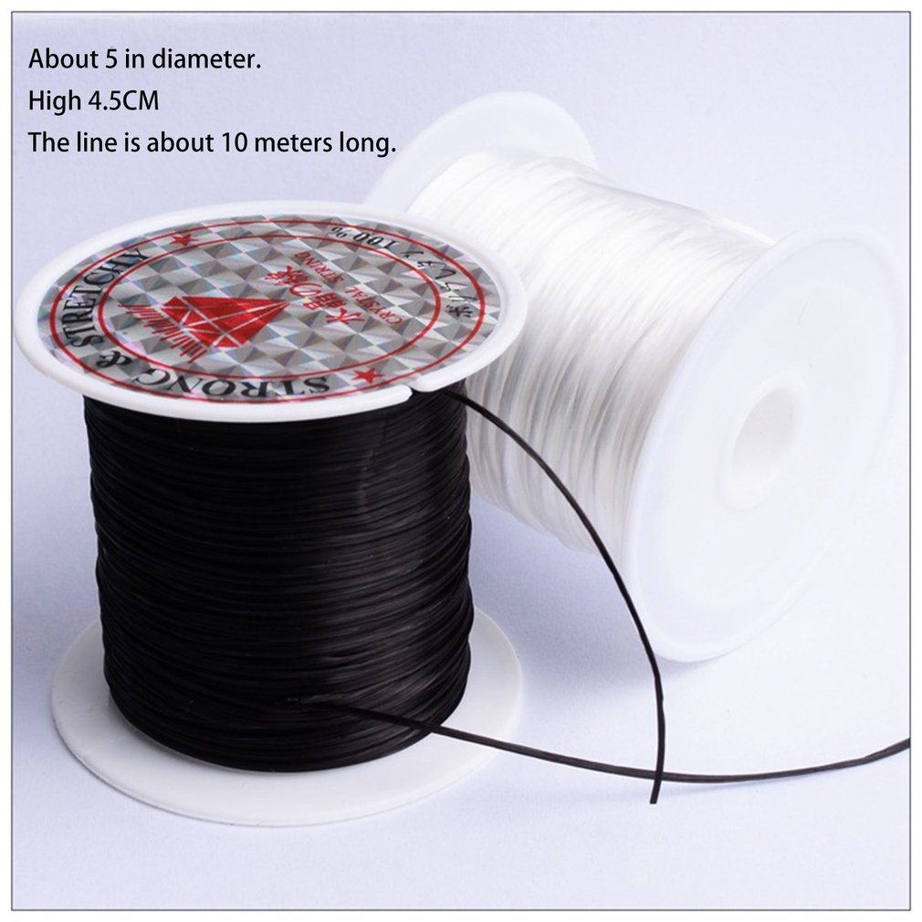 40m Flat Elastic Crystal Stretch String Cord For Jewelry Making Bracelet Beading Thread Craft Accessories DIY Elastic Line