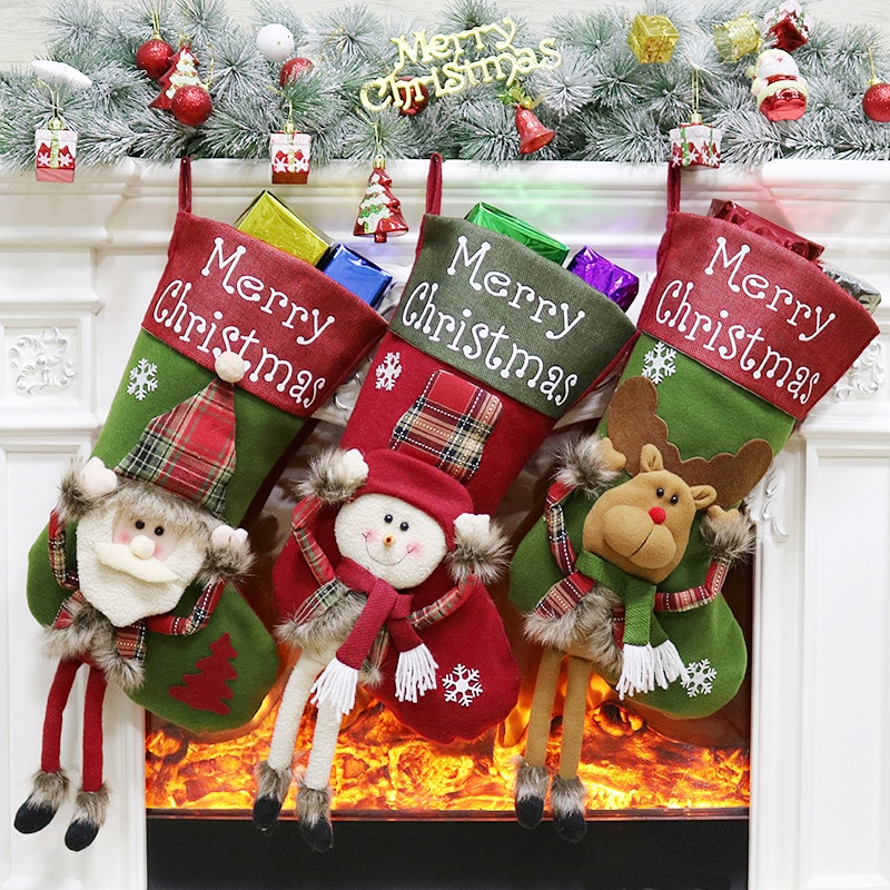 Фото - 1 piece of Christmas sock pendant Santa Claus Snowman Elk Candy Gift Bag Christmas Tree Decoration New Year Gifts fennell clare santa s 12 days of christmas