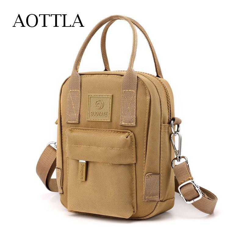 AOTTLA Mini Women's Bag Fashion Small Crossbody Bags Women Mini Nylon Shoulder Messenger Bag Purse L