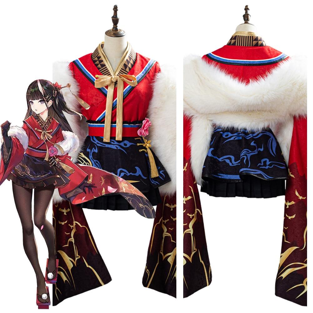 Game Azur Lane Sakura Empire Light Cruiser Noshiro Cosplay Costume Kimono Suit Halloween Carnival Party Dress