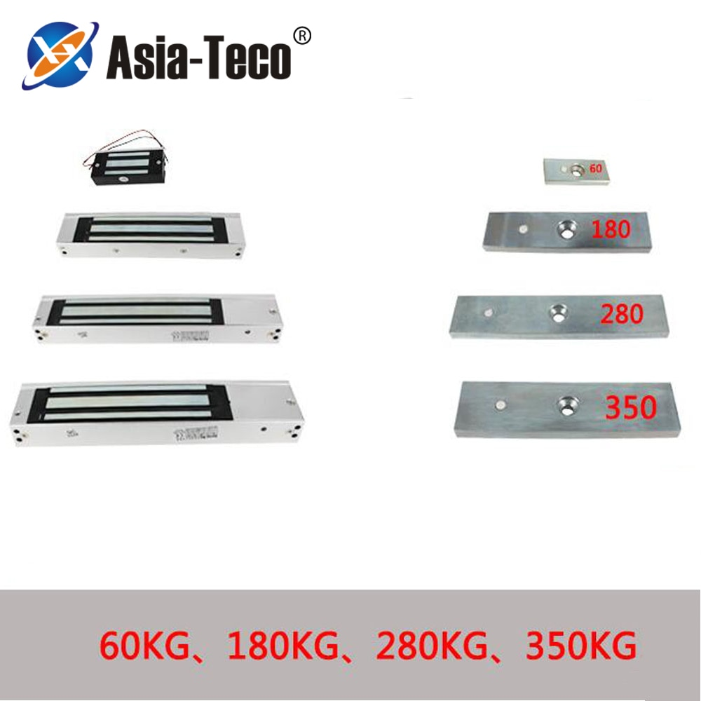 Magnetic Electric Lock Electromagnetic Door Lock DC 12V Single Door Lock Holding Force 60KG-350KG for access Control system