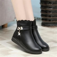 plus size womens boots winter new style plus velvet warm womens riding boots fashion casual womens shoes snow boots