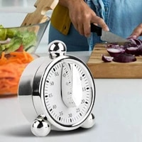 60 minutes countdown alarm clock kitchen timer mechanical visual timer for cooking baking kids classroom meeting management