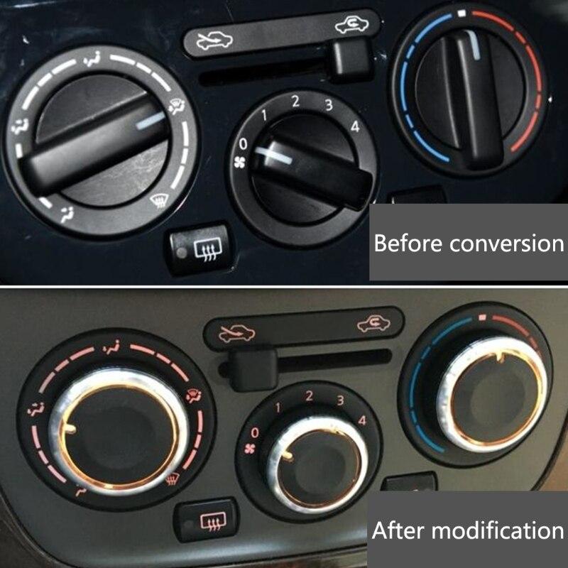 3 Pcs Klimaanlage Knob Auto A/C Heizung Control Schalter Für Nissan Tiida NV200 Livina Geniss 270E