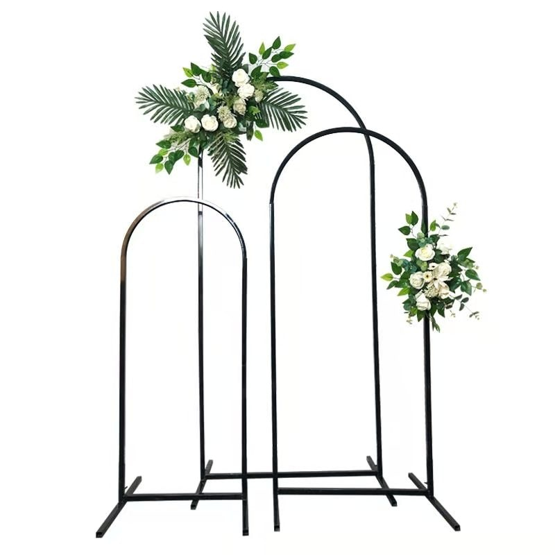Wrought Iron Flower Stand Wedding Arch Stage Background Welcome Decoration Road Guide Decor Arch Door Layout Party Wedding Props