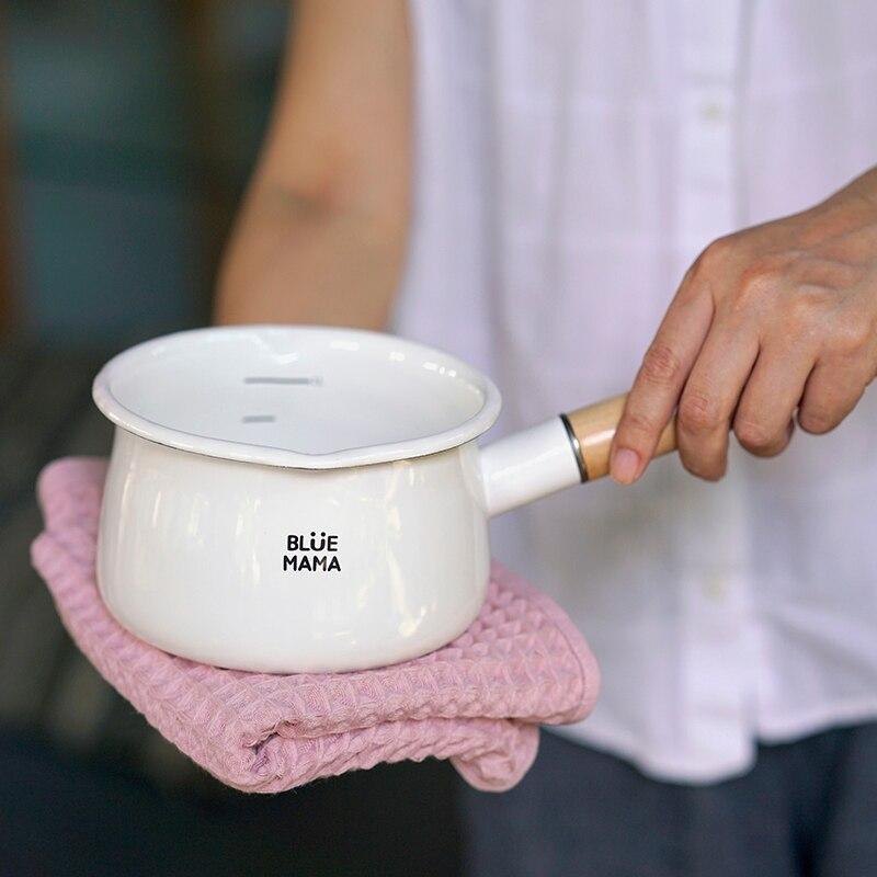 وعاء حليب سميك من السيراميك ، مقاوم للحرارة ، موقد غاز ، كوري ، للحليب ، عالي الجودة ، لوازم المطبخ ، DE50NG