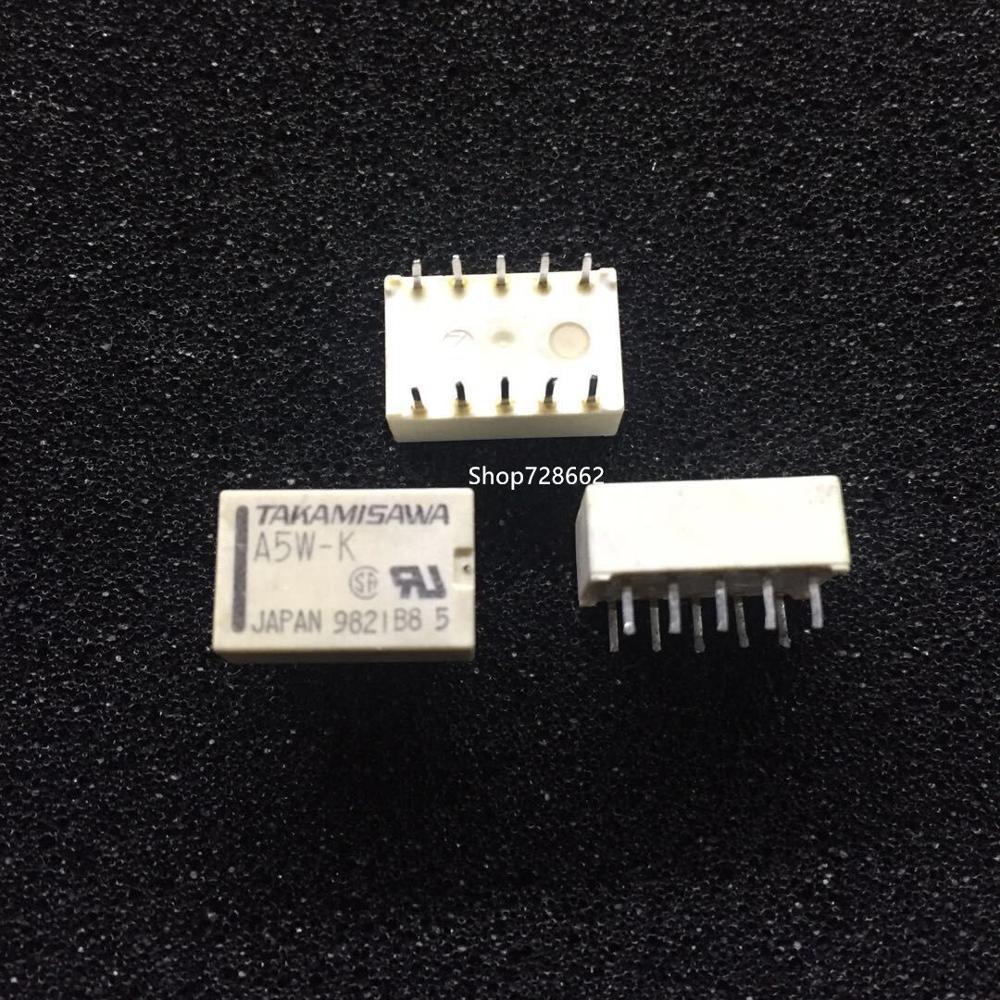 10 pçs/lote Relé A5W-K 5VDC 10-pin A5W-K A5W-K-5VDC