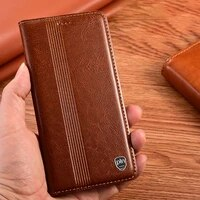 luxury genuine leather case for huawei honor 9a 9c 9s 9x pro x10 max 10x lite magnetic flip cover card slots