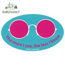 EARLFAMILY 13cm x 7.8cm Sticker for The More I See, The Less I Know Decal Car Bumper Sticker Vinyl W