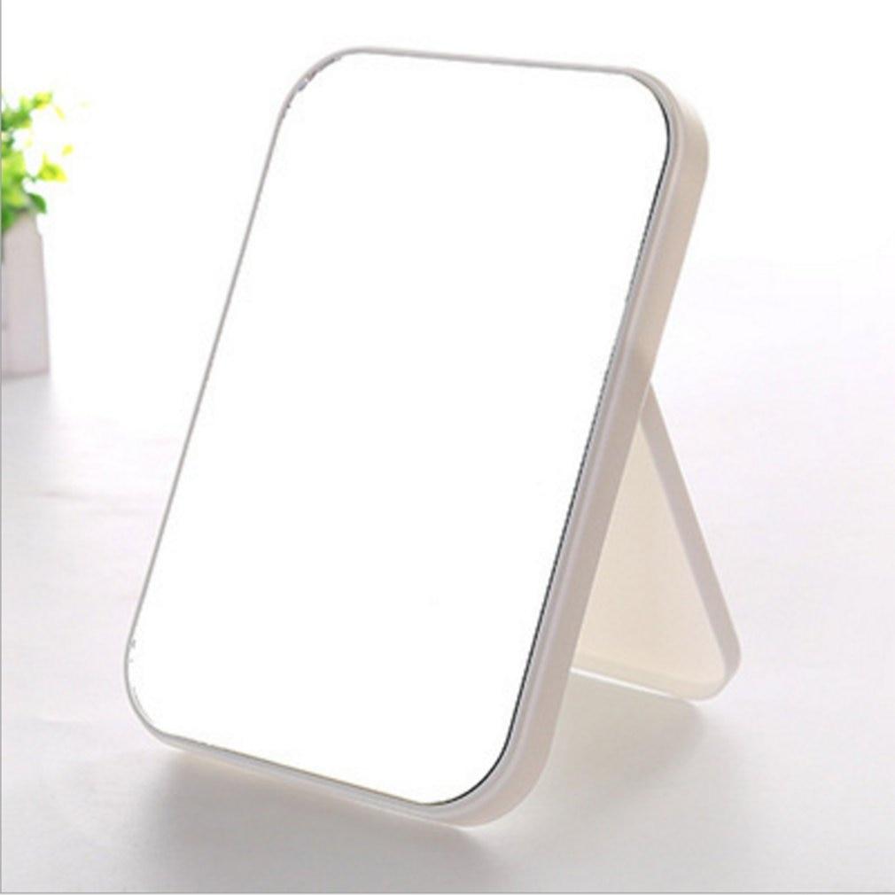 Espejo de maquillaje de escritorio espejo de vanidad gran portátil plegable coloridos cuadrado príncipes Espejos de maquillaje Color al azar 2020 DropShipping. Exclusivo.