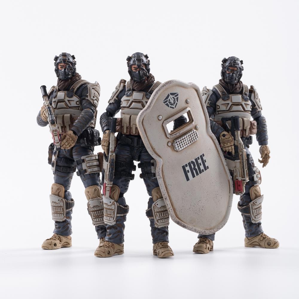 1/18 JOYTOY figuras de acción (3 unids/set) gratis truismo 15 Luna Lobo flota soldado militar figuras en miniatura de juguete de colección