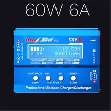 Nuevo SKYRC iMAX B6 V2 60W 6A Lipo cargador de equilibrio de batería LCD descargador de pantalla para RC coche Drone helicóptero