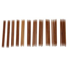 5 Sets von 11 Größen 5 (13cm) trickn Verkohlten Bambus Stricken Kits Nadeln Set (2,0mm-5,0mm) Förderung