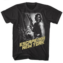 Évasion de New York serpent homme t-shirt Vintage affiche de film Kurt Russell noir