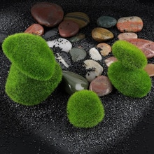 1pc Künstliche Grün Moos Ball Gefälschte Stein Simulation Anlage DIY Dekoration Für Shop Fenster Hotel Home Office Anlage Wand decor